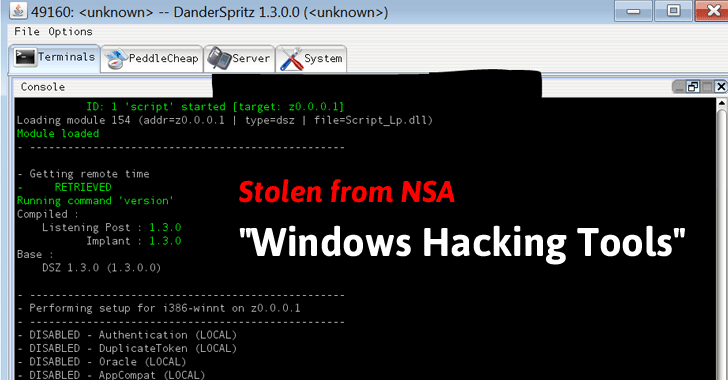 """Stolen NSA """"Windows Hacking Tools"""" Now Up For Sale! 